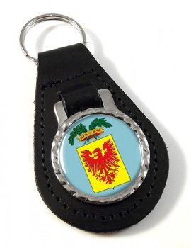 Provincia di Ravenna (Italy) Leather Key Fob