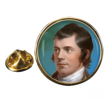 Robbie Burns Round Pin Badge