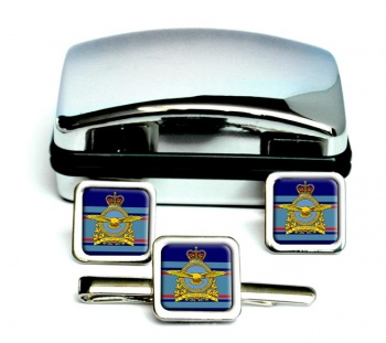 Royal Canadian Air Force (New) Square Cufflink and Tie Clip Set