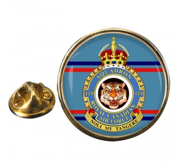 119 Squadron RCAF Round Pin Badge