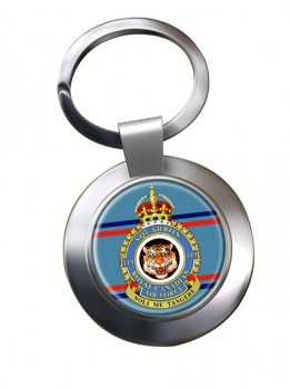 119 Squadron RCAF Chrome Key Ring