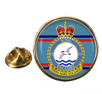 12 Wing RCAF Round Pin Badge