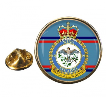 19 Wing RCAF Round Pin Badge