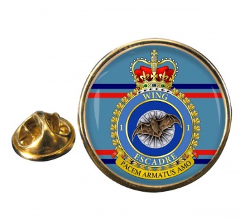 1 Wing RCAF Round Pin Badge