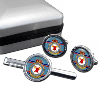 400 Squadron RCAF Round Cufflink and Tie Clip Set