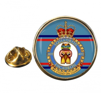 402 Squadron RCAF Round Pin Badge