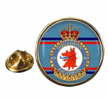 403 Squadron RCAF Round Pin Badge