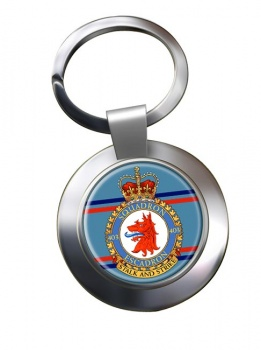 403 Squadron RCAF Chrome Key Ring