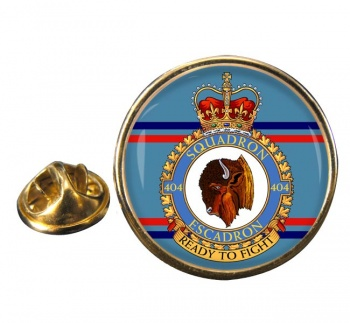 404 Squadron RCAF Round Pin Badge