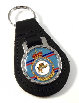 406 Squadron RCAF Leather Key Fob
