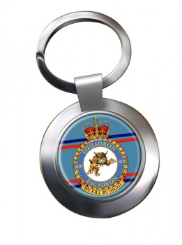 406 Squadron RCAF Chrome Key Ring