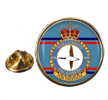 408 Squadron RCAF Round Pin Badge