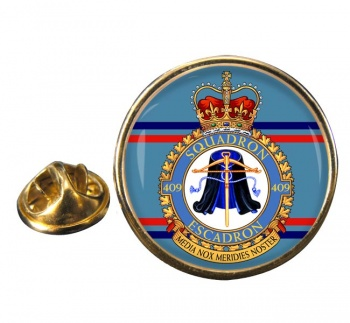 409 Squadron RCAF Round Pin Badge