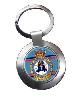 409 Squadron RCAF Chrome Key Ring