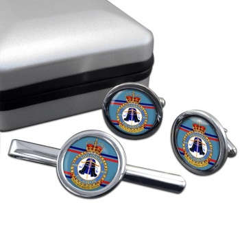 409 Squadron RCAF Round Cufflink and Tie Clip Set