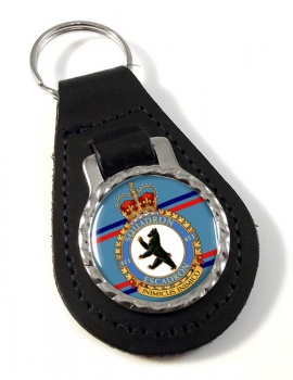 411 Squadron RCAF Leather Key Fob