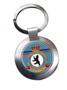 411 Squadron RCAF Chrome Key Ring