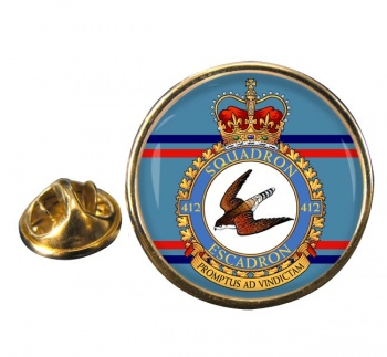 412 Squadron RCAF Round Pin Badge