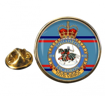 414 Squadron RCAF Round Pin Badge