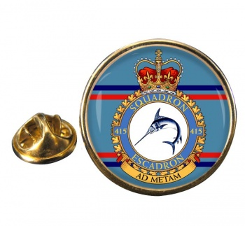 415 Squadron RCAF Round Pin Badge