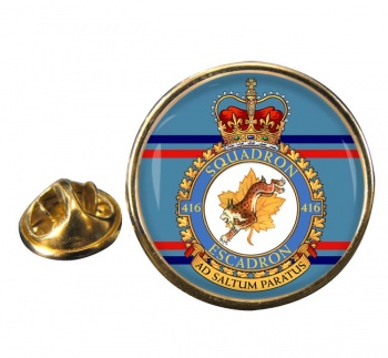 416 Squadron RCAF Round Pin Badge