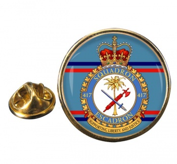 417 Squadron RCAF Round Pin Badge
