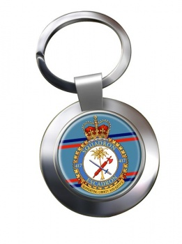 417 Squadron RCAF Chrome Key Ring