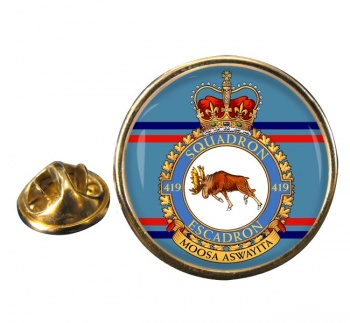 419 Squadron RCAF Round Pin Badge