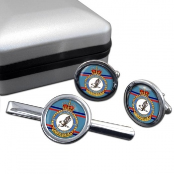 420 Squadron RCAF Round Cufflink and Tie Clip Set