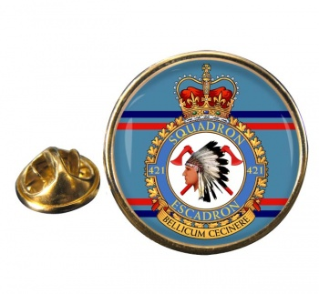 421 Squadron RCAF Round Pin Badge