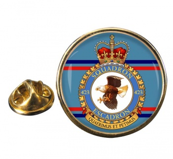 423 Squadron RCAF Round Pin Badge