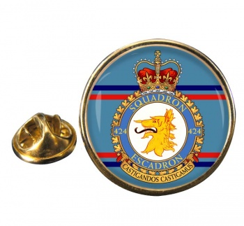424 Squadron RCAF Round Pin Badge