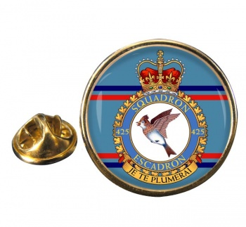425 Squadron RCAF Round Pin Badge