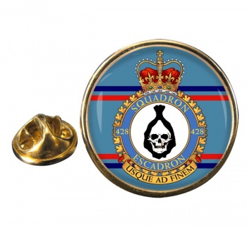 428 Squadron RCAF Round Pin Badge
