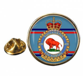 429 Squadron RCAF Round Pin Badge