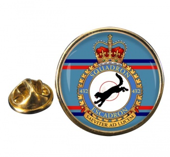 432 Squadron RCAF Round Pin Badge