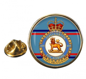 435 Squadron RCAF Round Pin Badge