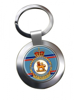 435 Squadron RCAF Chrome Key Ring