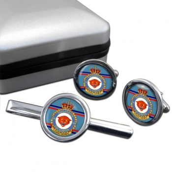 438 Squadron RCAF Round Cufflink and Tie Clip Set