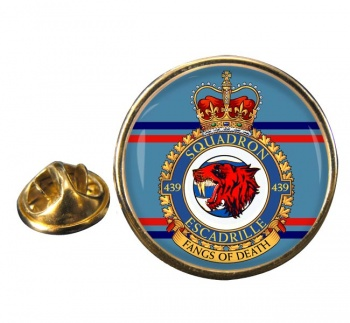439 Squadron RCAF Round Pin Badge
