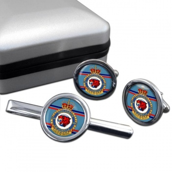 439 Squadron RCAF Round Cufflink and Tie Clip Set