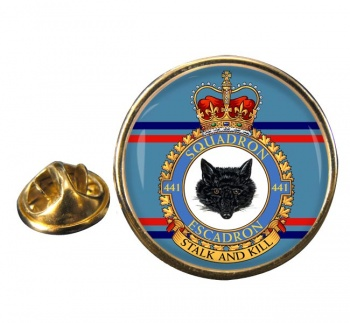 441 Squadron RCAF Round Pin Badge