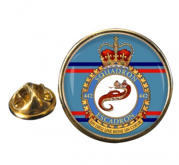 442 Squadron RCAF Round Pin Badge