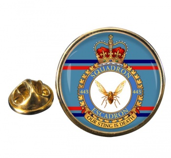 443 Squadron RCAF Round Pin Badge
