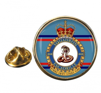 444 Squadron RCAF Round Pin Badge