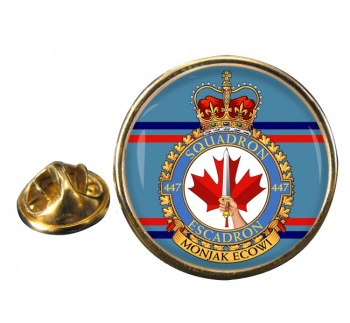 447 Squadron RCAF Round Pin Badge