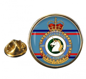 449 Squadron RCAF Round Pin Badge