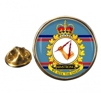 CFB Armstrong RCAF Round Pin Badge