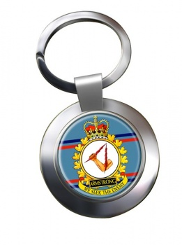 CFB Armstrong RCAF Chrome Key Ring
