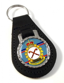 CFB Bagotville RCAF Leather Key Fob